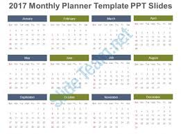 2017 monthly planner template ppt slides presentation powerpoint