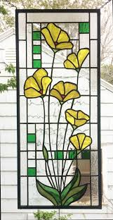 Flower Glass Design 1238 Best Stained Glass Flowers Images On Pinterest Mosaics
