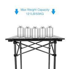 compact folding beach table qisiewell cing table aluminum outdoor folding beach table compact