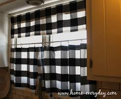 Blue Plaid Kitchen Curtains by Black And White Kitchen Curtains 2017 Blue Gingham Images