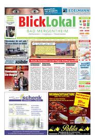 Sparkasse Bad Mergentheim Blicklokal Bad Mergentheim Kw49 2016 By Blicklokal Wochenzeitung