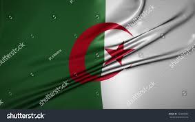 Algerian Flag Peoples Democratic Republic Algeria Flag Beautiful Stock