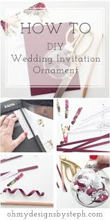 wedding invitation ornament married