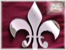 fleur de lis cake topper specialty cake toppers