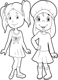 friends very beautiful girls coloring page wecoloringpage