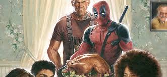 deadpool gets wholesome for two thanksgiving promos that d make