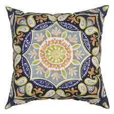 Hampton Bay Patio Chair Cushions by Hampton Bay Sky Medallion Square Outdoor Throw Pillow 7055
