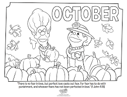 october coloring page 1 john 4 18 whats in the bible