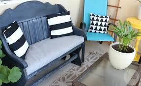 How To Make A Seat Cushion For A Bench How To Sew A Custom Bench Cushion In 2 Hours
