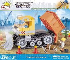 caterpillar bulldozer action town for kids wiek cobi toys