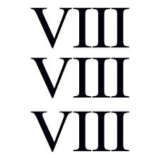 roamn numeral numeral eight temporary