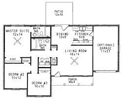Patio Homes Floor Plans Traditional Style House Plan 3 Beds 2 Baths 1070 Sq Ft Plan 14