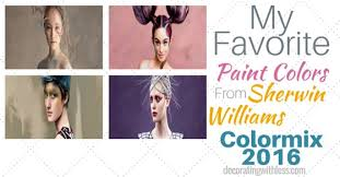 favorite paint colors from sherwin williams colormix 2016