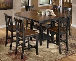 ashley dining room furniture set owingsville 7 piece counter extension table set by signature