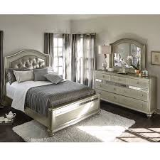 American Bedroom Furniture by Serena Queen 5 Piece Bedroom Set Platinum American Signature