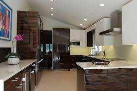 custom cabinetry with unique wood veneers