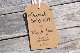 baby shower favor tags sweet baby rustic thank you