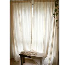cotton and linen fabric extra long sheer curtains