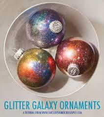 glitter galaxy ornament diy a craft in your day