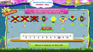 learn grade 1 maths subtraction using number line youtube