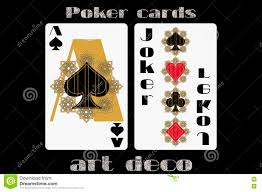 Joker Playing Card Designs Poker Playing Card Ace Spade Joker Poker Cards In The Art Deco