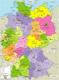 map of regions of germany regions in germany map