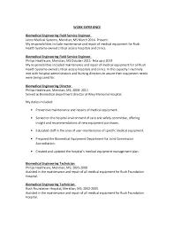 biomedical engineer resume service engineer sle resume 15 biomedical