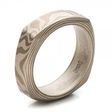 wedding band manufacturers custom men s white gold and mokume wedding band 100818