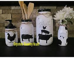 black kitchen canisters kitchen canisters etsy