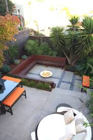 Backyard Patio Ideas With Fire Pit by Modern Patio Ideas With Furniture And Benches And Fire Pit