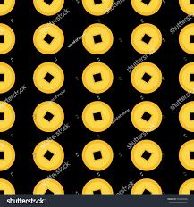 golden china pattern coin set seamless pattern china stock vector 504782068