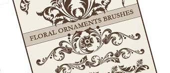 decorative floral ornaments photoshop brushes graphics