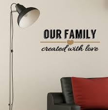 our family created with love wall decal quote 2 color decorative loading zoom