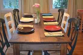 Farm Table Pictures by Ana White Narrow Farmhouse Table Diy Projects