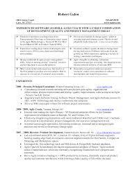 Agile Resume Resume Agile Methodology Resume