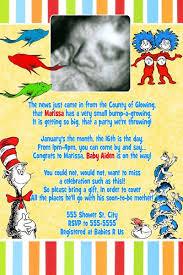 Dr Seuss Baby Shower Invitation Wording - 13 best dr seuss images on pinterest dr seuss baby shower baby