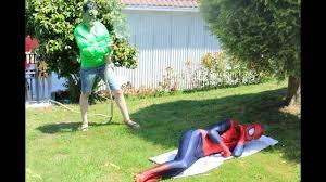hulk spends a joke on spiderman superheroes movie in real life