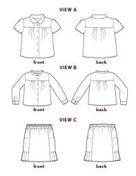 blouse sewing patterns digital class blouse skirt sewing pattern shop oliver s