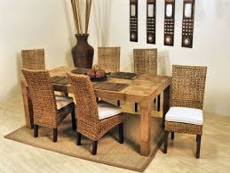 Pegasus Rectangle  Inch Dining Room Set From Hospitality Rattan - Rattan dining room set