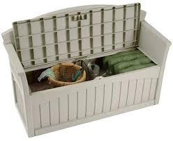 Outdoor Storage Bench Waterproof Plastic Garden Bench With Storage An Alternative Form Of Storage