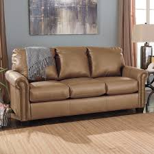 brown leather sofa sleeper ashley furniture lottie durablend full
