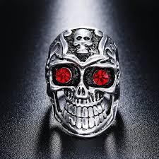 imagenes de calaveras hombres 1 unids gótico del cráneo del motorista de los hombres de moda