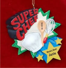 african american female chef christmas ornament ornament