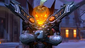 pumpkin backgrounds for halloween pumpkin halloween reaper overwatch wallpaper 10766