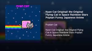 nyan cat original original flying cat in space rainbow stars