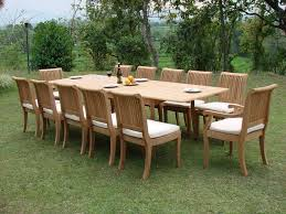 Teak Outdoor Dining Table And Chairs Outdoor Dining Table For 12