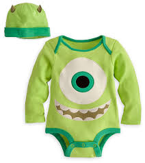 infant monsters inc halloween costumes amazon com disney store mike wazowski onesie costume bodysuit