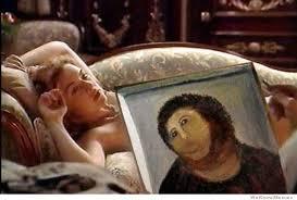 Fresco Jesus Meme - botched fresco jesus is everywhere good ideas pinterest