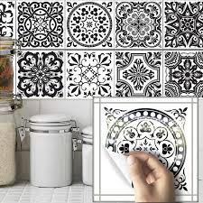 stickers pour cuisine d馗oration funlife salle de bains décor noir et blanc stickers carrelage