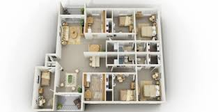 floor plans for a 4 bedroom house 4 bedroom house plans 3d with regard to four bedroom house plans